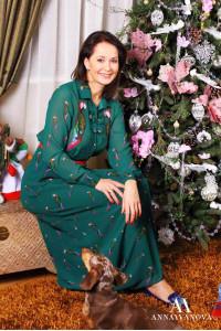 Ольга КАБО в одежде ANNAIVANOVA